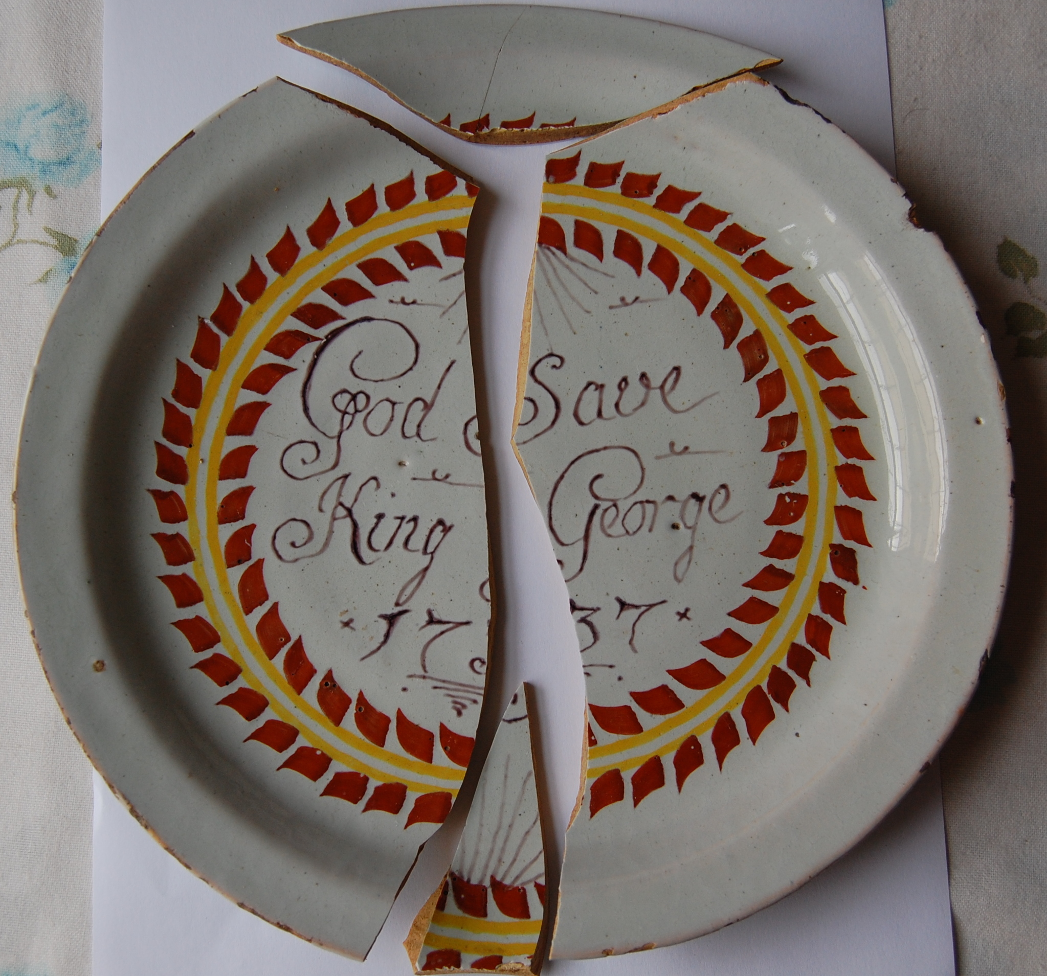 Antique plate ... & Before And After | Ceramic Restoration